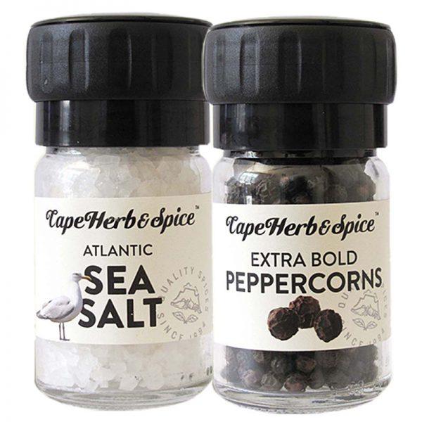 Mini Moinhos de Pimenta Preta e Sal Cape Herb & Spice 110g