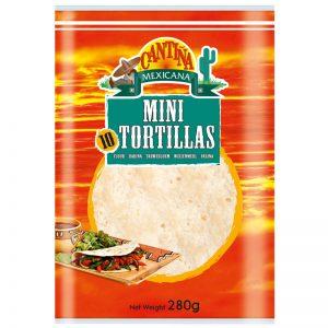 Tortilhas de Trigo Mini (10un) Cantina Mexicana 280g