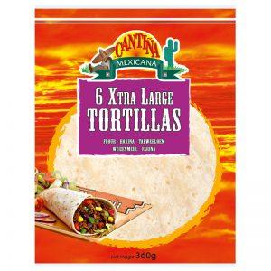 Tortilhas de Trigo XL (6un) Cantina Mexicana 360g