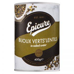 Lentilhas Bijoux Verts Epicure 400g