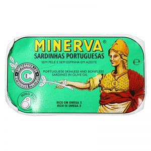 Sardinhas em Azeite Sem Pele e Sem Espinhas Minerva 120g