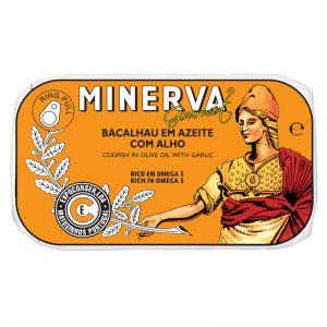Bacalhau em Azeite com Alho Minerva 120g