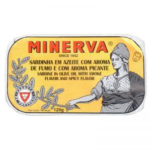 Sardinhas Fumadas em Azeite Picante Minerva 120g