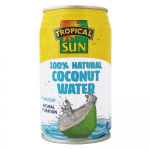 Água de Coco Natural em Lata Tropical Sun 330ml