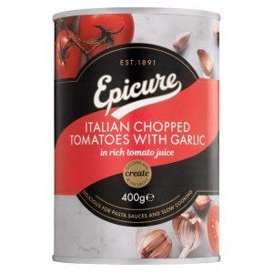 Tomate em Pedaços com Alho Epicure 400g