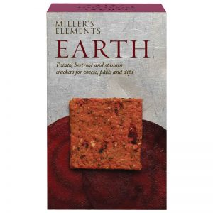 Crackers Earth de Beterraba Batata e Espinafres Millers Elements Artisan Biscuits 100g