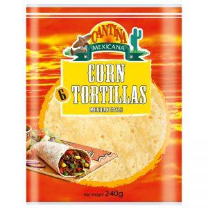 Tortilhas de Milho Estilo Mexicano (6un) Cantina Mexicana 240g