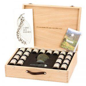 Conjunto de Pimentas em Mala de Madeira Terre Exotique 200g