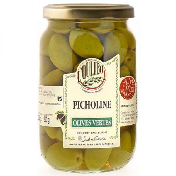 Azeitonas Verdes Picholines L'Oulibo 380g