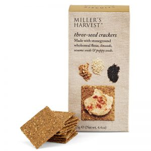 Crackers 3 Sementes Millers Harvest Artisan Biscuits 125g