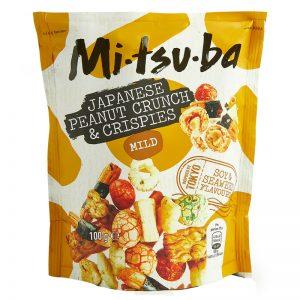 Snack Japonês de Arroz e Amendoins Mitsuba 100g