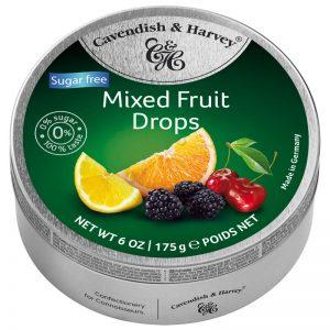 Rebuçados de Tutti-Frutti sem Açúcar em Lata Cavendish & Harvey 175g