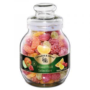Rebuçados Seleção Tutti-Frutti em Frasco Grande Cavendish & Harvey 966g