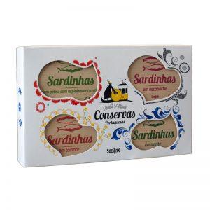 Conjunto de Conservas Nº03 Sardinhas bySocilink 4x125g