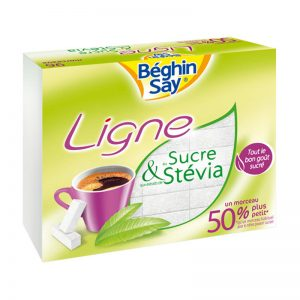 Cubos de Açúcar e Stevia Sereline Béghin Say 250g
