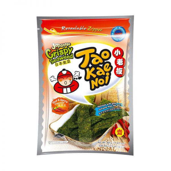 Alga Marinha Crocante Hot & Spicy Taokaenoi 32g