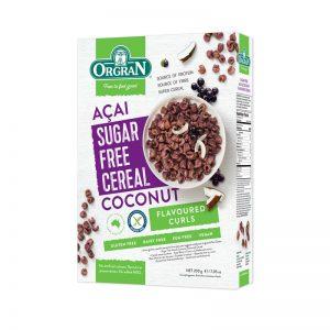 Cereais com Açaí e Coco sem Açúcar Orgran 200g
