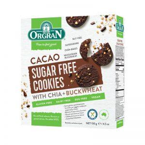 Bolachas de Chocolate sem Açúcar Orgran 130g