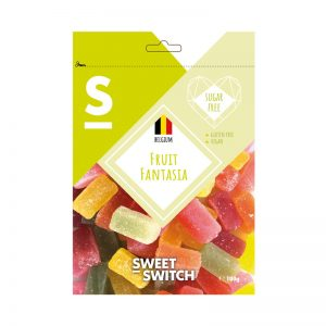 Gomas Fantasia de Fruta Sugar Free Sweet Switch 100g