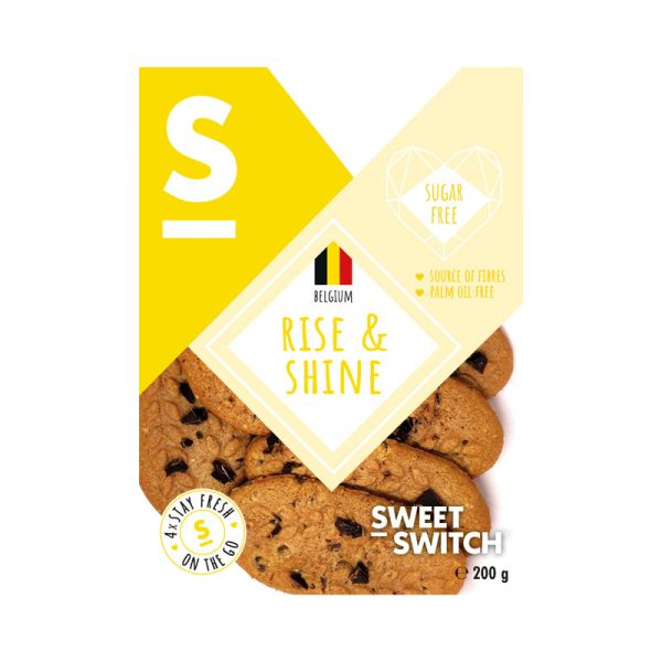 Biscoitos Rise & Shine Sugar Free Sweet Switch 200g