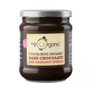 Spread Chocolate Preto e Avelã Biológico Mr Organic 200g
