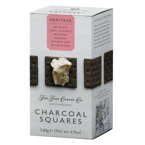 Crackers Charcoal Squares Heritage The Fine Cheese Co. 140g