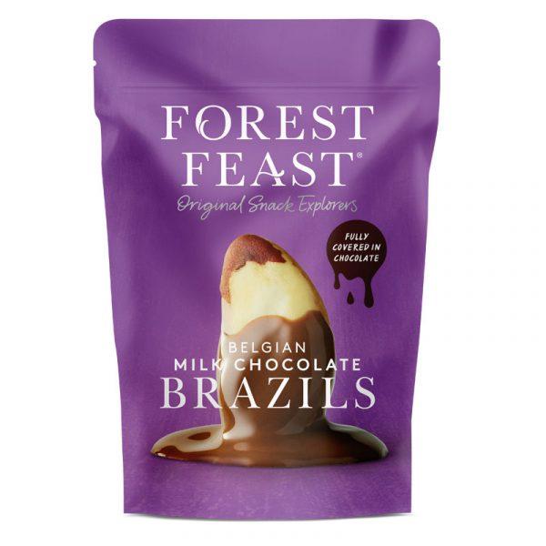 Castanhas do Brasil com Chocolate de Leite Belga Forest Feast 120g