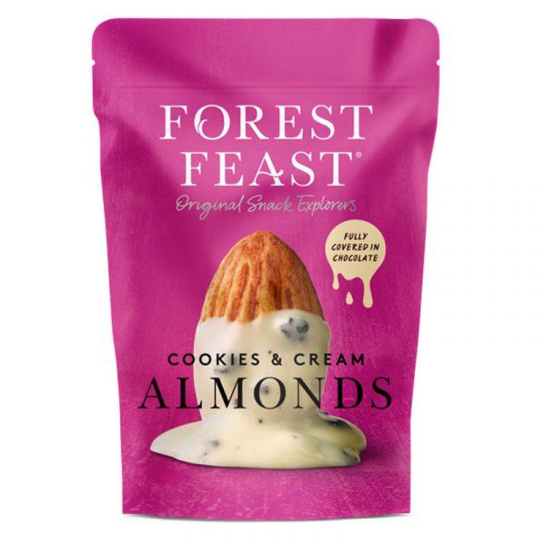 Amêndoas com Chocolate Branco e Pepitas de Biscoitos Forest Feast 120g