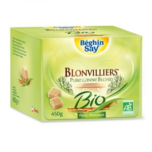 Cubos Açúcar Mascavado Biológico Blonvilliers Béghin Say 450g