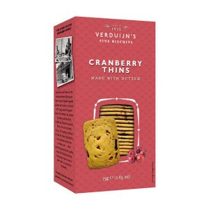 VERDUIJNS Cranberry Thins 75g