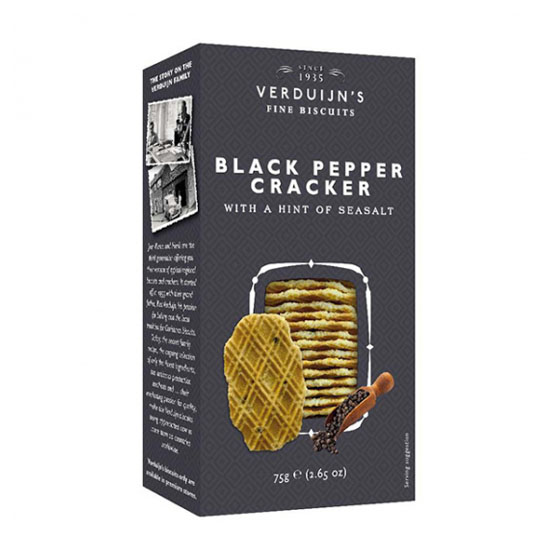 Crackers Pimenta Preta Sal Marinho VERDUIJNS 75g