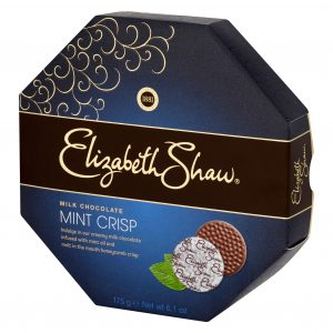 Crisp de Chocolate Preto e Menta Elizabeth Shaw 175g