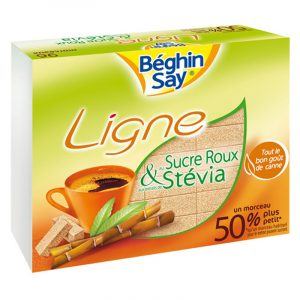 Cubos de Açúcar Mascavado e Stevia Sereline Béghin Say 250g