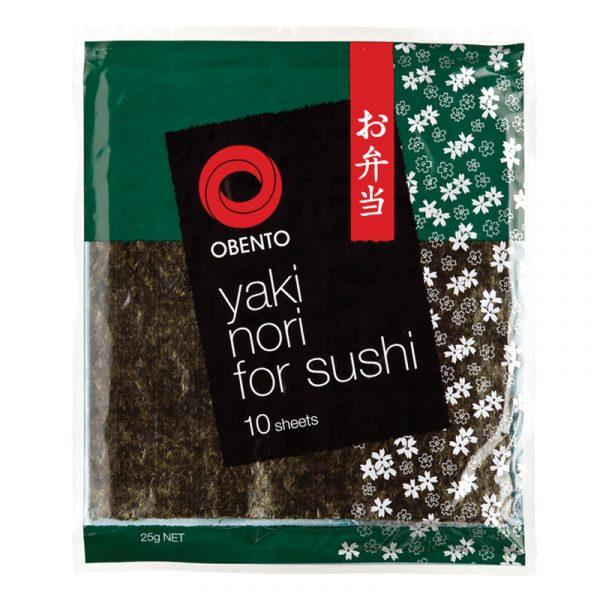 Obento Yaki Nori for Sushi (10 sheets) 25g