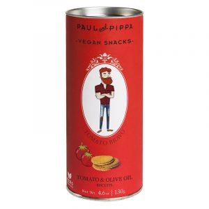 "Biscoitos de Tomate ""Tomato Bravo"" em Tubo Paul & Pippa 130g"