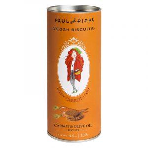 "Biscoitos de Cenoura ""Lady Carrot Cake"" Paul & Pippa 130g"