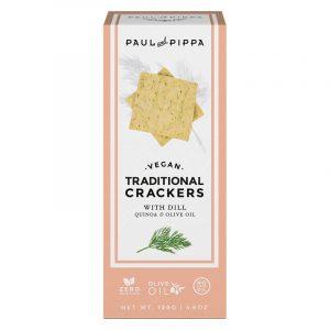 Crackers Tradicionais de Endro Paul & Pippa 130g