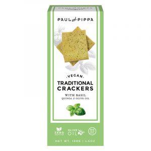 Crackers Tradicionais de Manjericão Paul & Pippa 130g