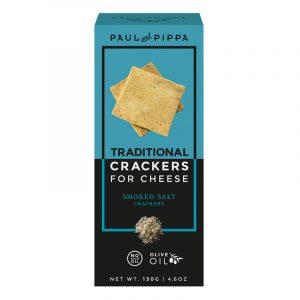 Crackers de Sal Fumado para Queijo Paul & Pippa 130g