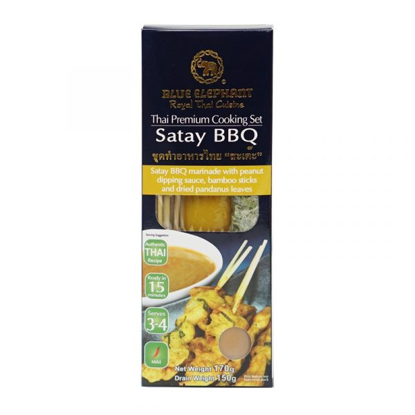 Kit para Churrasco Satay BBQ Blue Elephant 180g