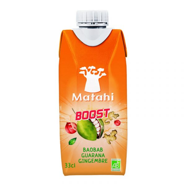 Bebida BOOST Baobab Guaraná Gengibre Matahi 330ml