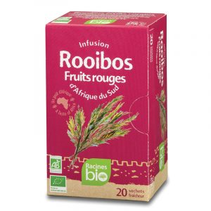 Chá Rooibos e Frutos Vermelhos 20saq. Racines BIO 36g