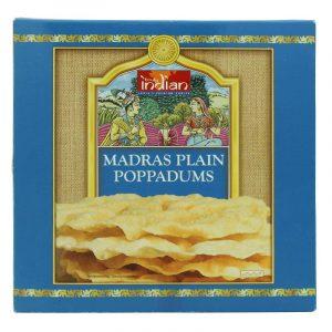 Poppadums de Madras Simples Truly Indian 112g