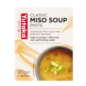 Pasta de Sopa Miso com Algas Wakame (5 saquetas) Yutaka 90g