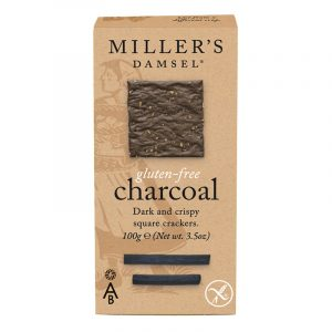 Artisan Biscuits Millers Damsels Charcoal Crackers Gluten Free 100g