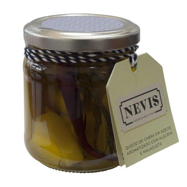 Queijo de Cabra em Azeite Aromatizado com Alecrim e Malagueta Nevis 200g