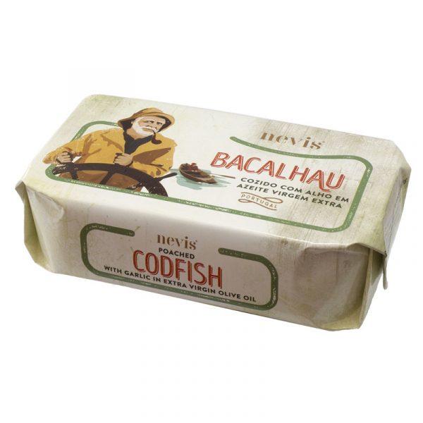 Bacalhau Cozido com Alho em Azeite Virgem Extra Nevis 120g