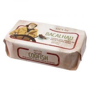 Bacalhau Cozido com Cebola em Azeite Virgem Extra Nevis 120g