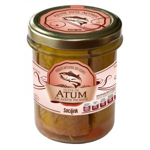 bySocilink Azorean Tuna Fillet in Spicy Olive Oil in Jar 190g