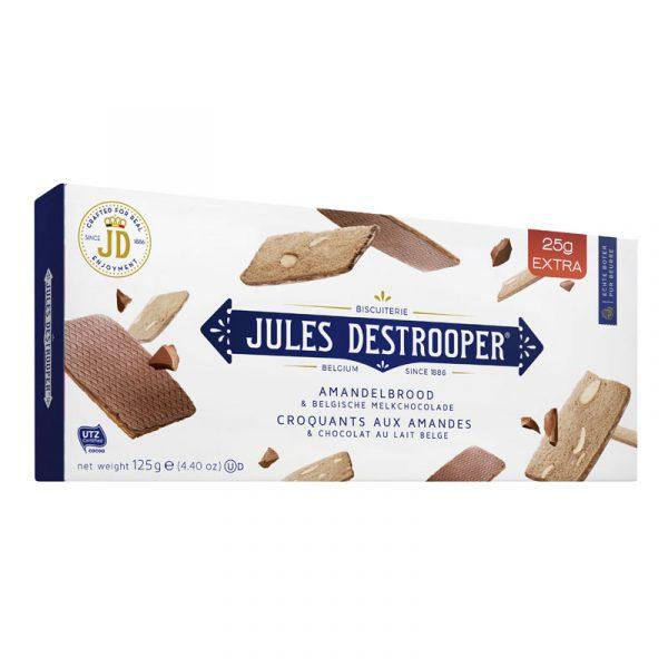 Thins de Amêndoa com Chocolate Preto Belga e Raspas de Laranja Jules Destrooper 125g
